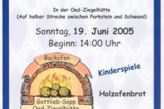 2005-06-18 Backofenfest Plakat