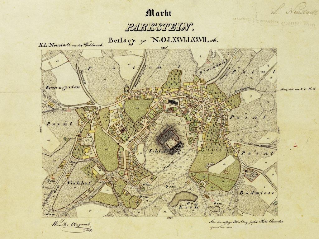 Parkstein um 1839