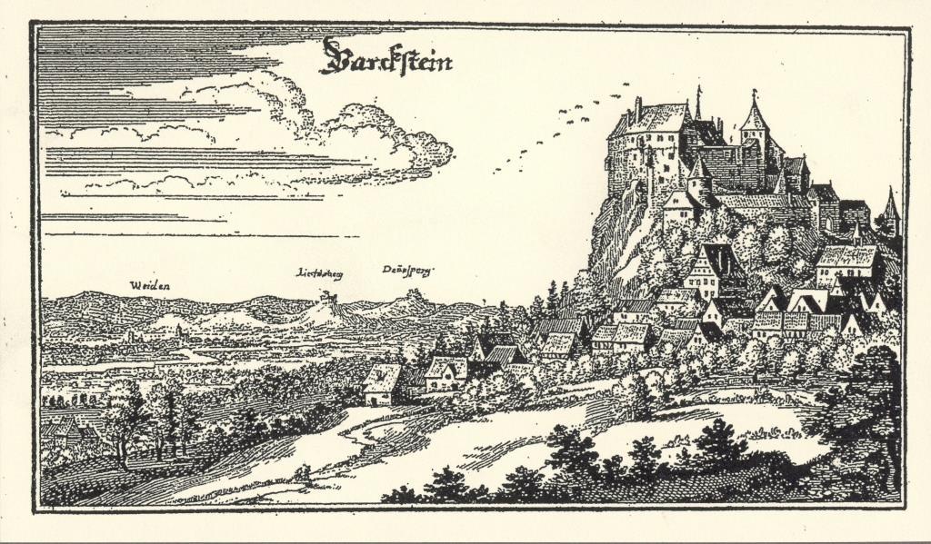 Merianstich Parkstein um 1640